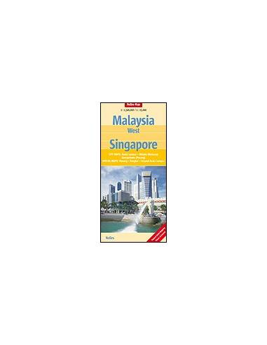 Malajzia-nyugat, Singapore térkép -...