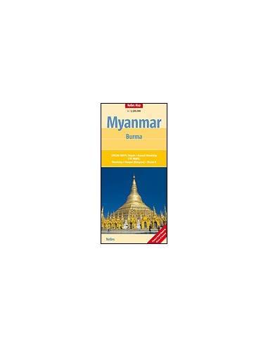 Myanmar - Burma térkép