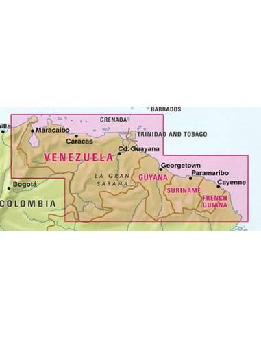 Venezuela, Guyana, Suriname, Francia...