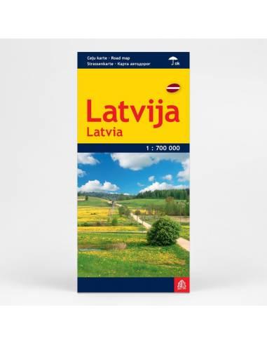 Lettország térkép laminált