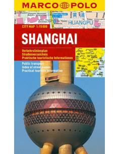 Shanghai city map laminált...