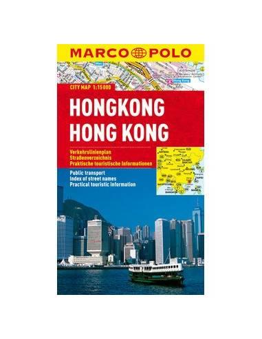 Hong Kong city map laminált Marco Polo