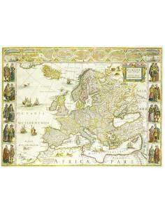 Európa XVII. sz. falitérkép...