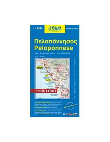 Peloponnese - Peloponnészosz térkép...