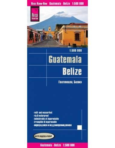 RKH Guatemala - Belize térkép