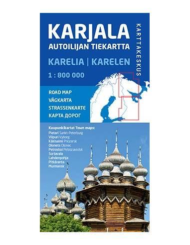 Karjala - Karélia autótérkép