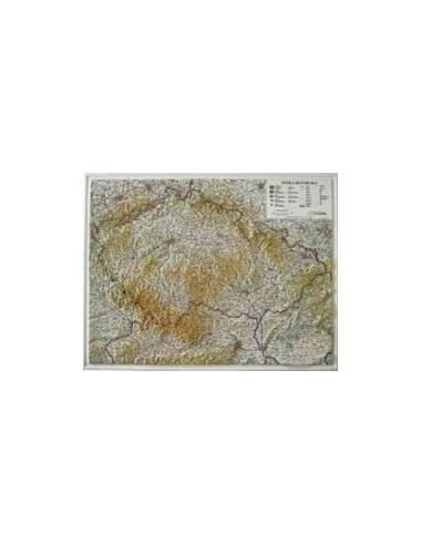 Csehország dombortérképe 107*82 cm...