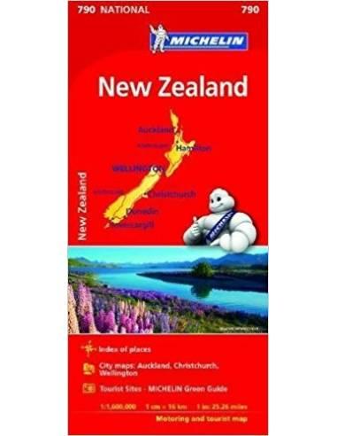 MN 790 New Zealand - Új-Zéland térkép
