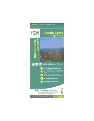 IGN 030 Bastia Corte, Cap Corse...