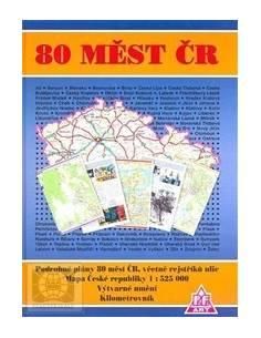 Csehország 80 település atlasz