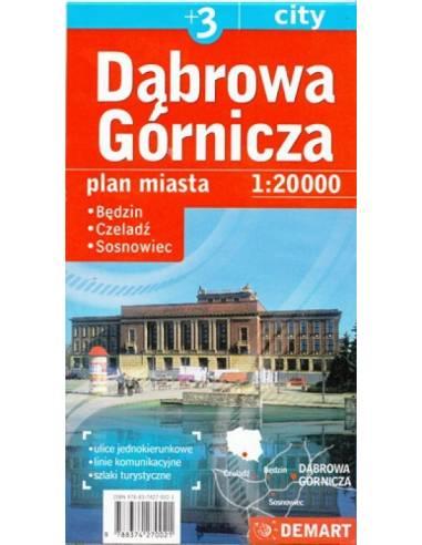 Dąbrowa Górnicza +3 város térképe