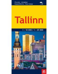 Tallinn laminált várostérkép