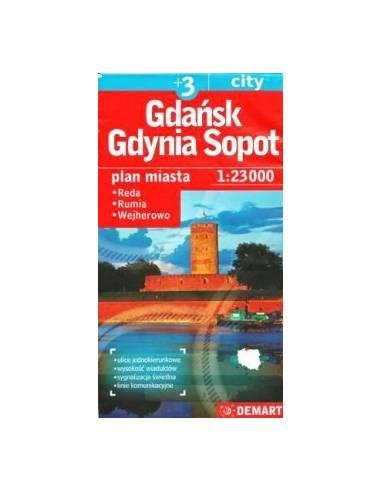 Gdansk, Gdynia, Sopot +3 várostérkép
