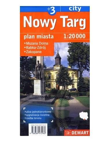 Zakopane / Nowy Targ + 3 várostérkép