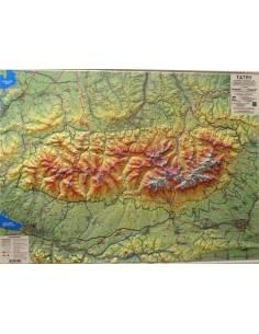 Tátra dombortérképe 98*73 cm