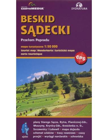 Beskid Sadecki turistatérkép