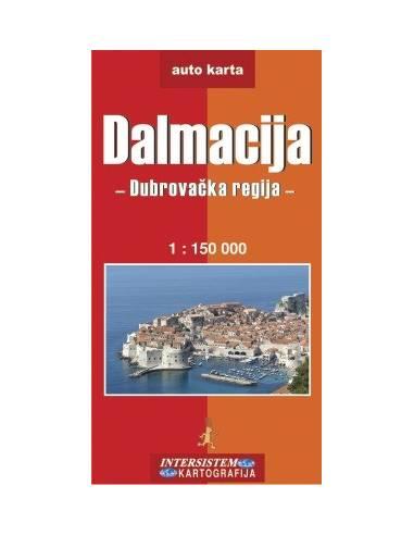 Dalmácia: Dubrovnik környéke térkép