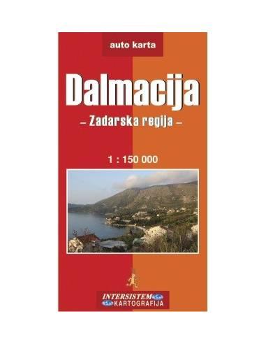 Dalmácia: Zadar környéke térkép