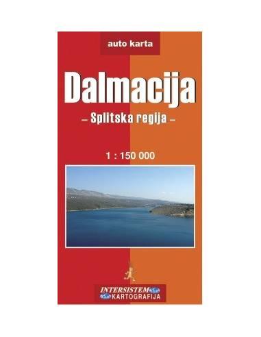 Dalmácia: Split környéke térkép
