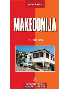 Macedónia - Makedonija térkép