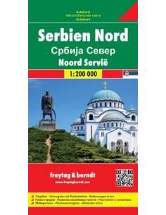 Szerbia - Észak térkép
