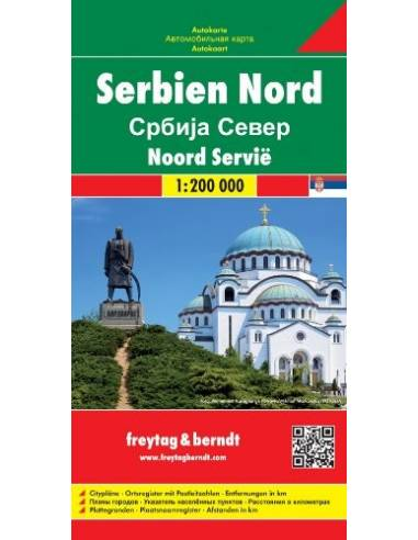 Serbia North - Észak-Szerbia térkép