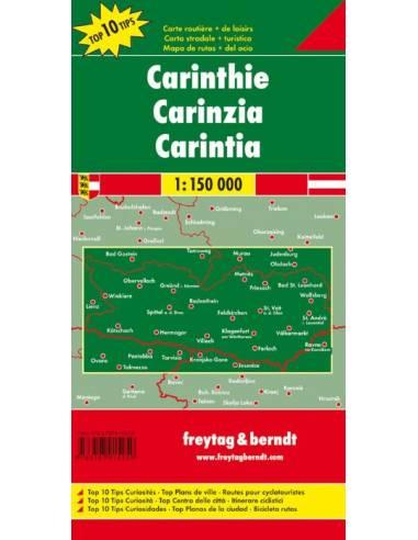 Karintia térkép-Top10Tipp