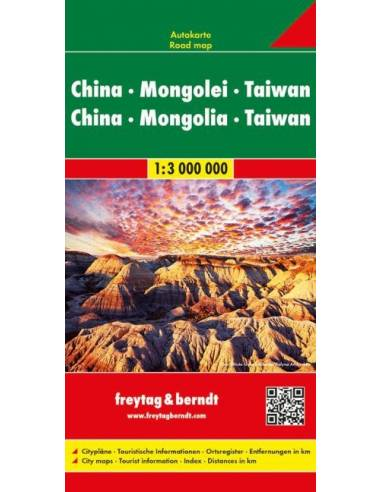 Kína-Mongólia-Tajwan térkép