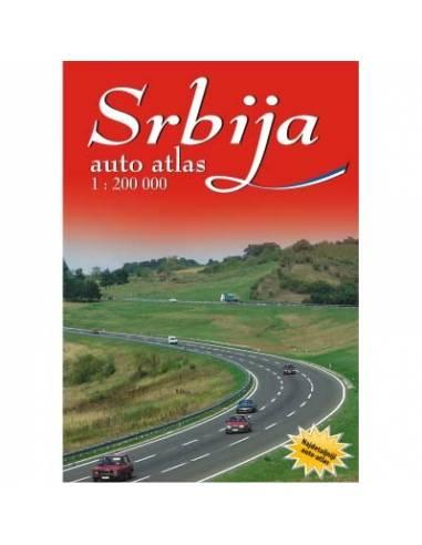 Srbija - Szerbia autóatlasz