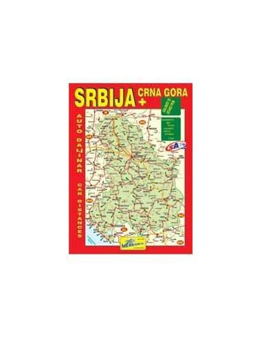 Szerbia és Montenegro távolságmutató