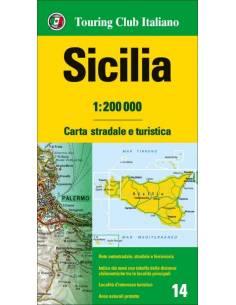 Szicília térkép - TCI
