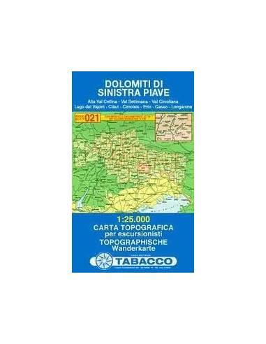 TO 021 Dolomiti Di Sinistra Piave térkép