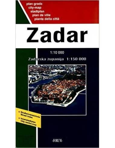 Zadar várostérkép / Zadar környéke...