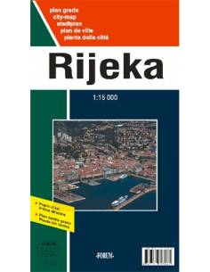 Rijeka - Fiume térkép