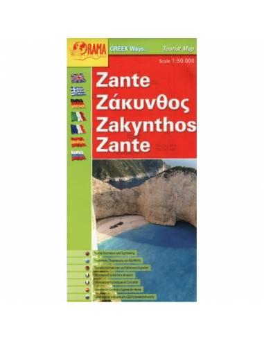 Zakintosz - Zakynthos térkép