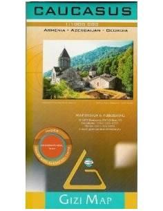 Kaukázus domborzati térkép