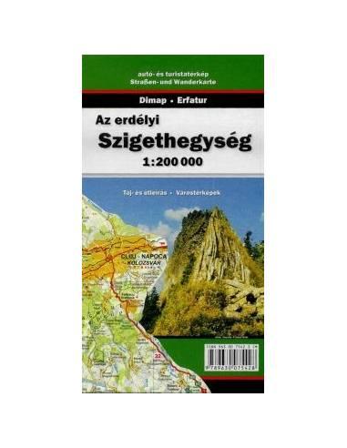 Erdélyi szigethegység térkép - Munții...