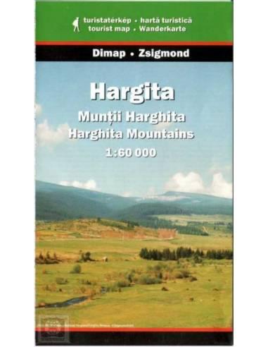 Hargita-hegység térkép - Munţii Harghita