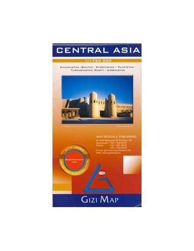 Central Asia - Közép-Ázsia domborzati...