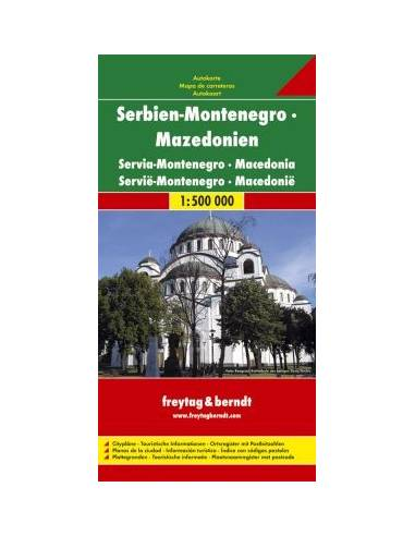 Szerbia-Montenegró-Macedónia térkép
