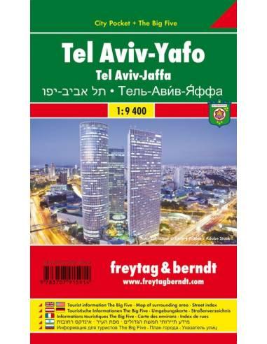 Tel Aviv-Jaffa zsebtérkép-City pocket