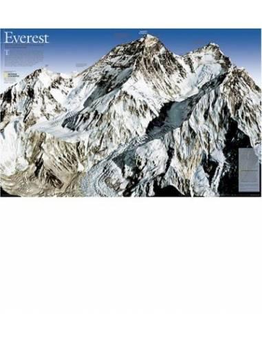 Mount Everest panoráma térkép