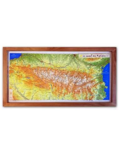 Pireneusok dombortérkép
