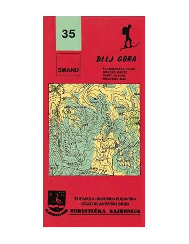 S 35 Dilj Gora turistatérkép