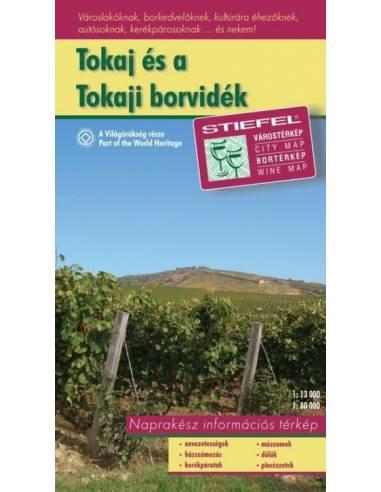 Tokaj és a tokaji borvidék térkép