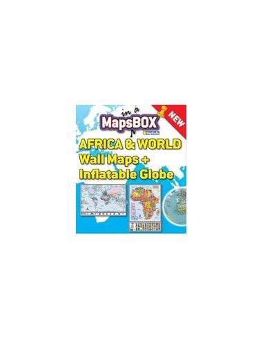 Mapsbox - Világ és Afrika falitérkép...