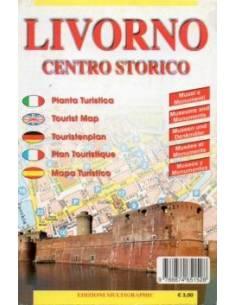 Livorno centrum térkép (mini)