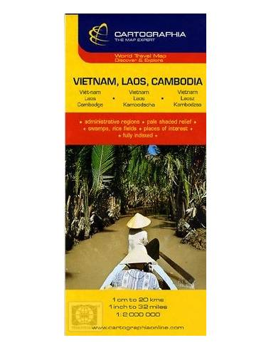 Vietnám - Laosz - Kambodzsa térkép