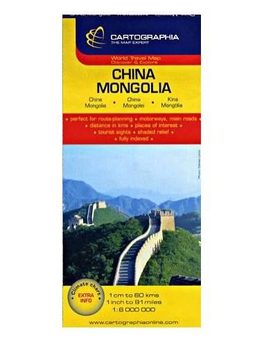 Kína - Mongólia térkép