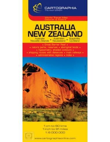 Ausztrália / Új-Zéland térkép
